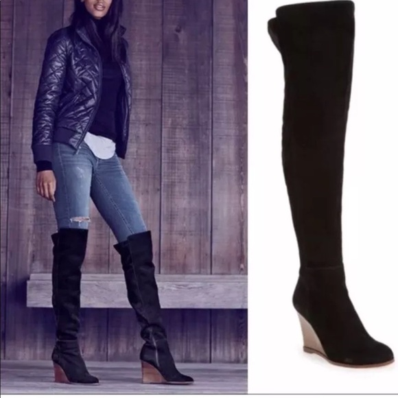 91ce6750e33 New Vince Camuto Granta Over Knee Wedge Boots 8